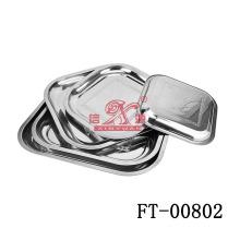 Acero inoxidable cuadrados servir (FT-00802)