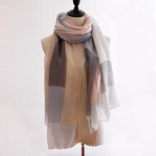 Lenço de seda da senhora moda cor bloco algodão (yky1145)