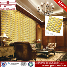 fuente de China que fondo de la pared de vida azulejos de mosaico de oro