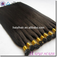 100 human remy double drawn keratin i tip Russian hair extensions wholesale