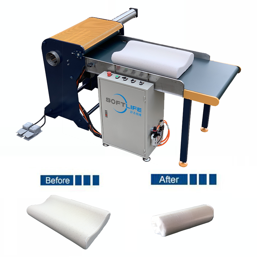 Automatic Vacuum Pillow Roll Packing Machinery Softlife