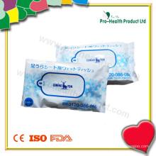 Lingettes humides dans un sac en plastique (PH734A)