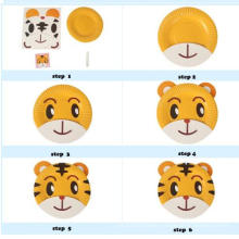 kids DIY paper craft make your own paper plate