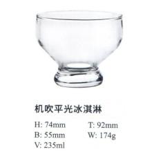 Machine Blow Glass with Good Price Ice Cream Bowl Kb-Hn01030