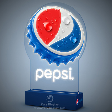 Display de luz led pepsi