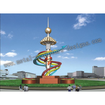 outdoor stainless steel - Oriental pearl tower