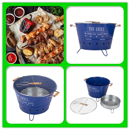 BBQ Steel Grease Bucket For Grill/Smoker