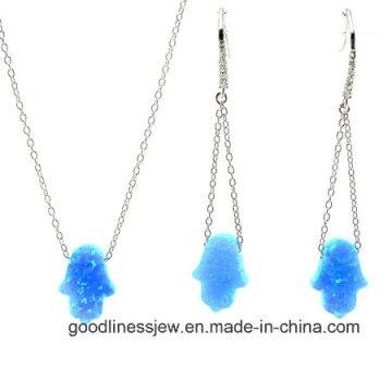 Jewelry Set with Colorful Opal Hamsah Set Fashion S3136
