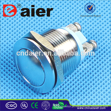 Daier 19 milímetros interruptor anti-vandalismo interruptor de botão de pressão à prova d 'água