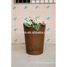 high quality PE larger outdoor garden rattan vase
