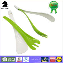 BPA Free Plastic 2 in 1 Salad Cutlery