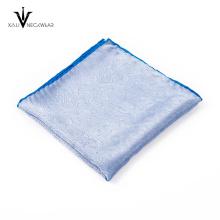 Ventas al por mayor 100% poliéster diferente serie colores patrón bolsillo cuadrado