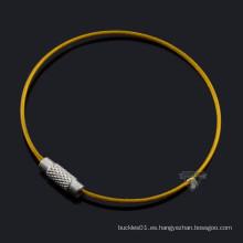 Deep yellow secure key ring anillos producto para la venta