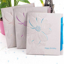 Fancy Offset Printing Paper Greeting Card Embossed Cards Printing
