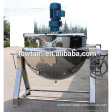 stainless steel steam jacketed kettle sauce making machine
