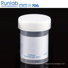 Ce Marked PP 60ml Universal Specimen Containers with Screw Cap and Plain Label