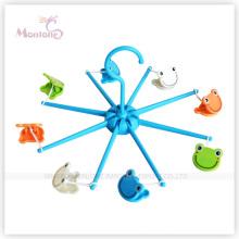 Diameter 16cm Foldable Plastic Clothes Hanger with Frog Shaped Hanger