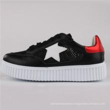 Women Shoes PU/Leather/Mesh Shoes Casual Shoes Snc-65003-Blk