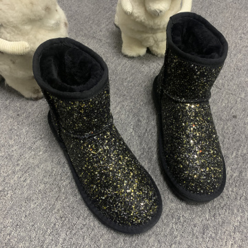 Fashion Sequin Winter Bling Bling Snow Boots Women