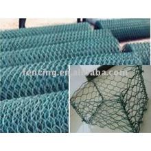 treillis métallique hexagonal enduit de PVC (usine)
