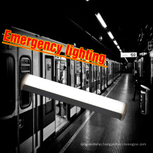 Emergency backup 3hours ip65 shatterproof seamless link 50w 5ft led tri-proof linear light