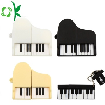 Lucu Piano Bentuk Silicone USB Dust Cover Case