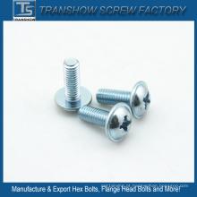 Parafusos de máquina DIN967 galvanizados zinco de M6 * 20