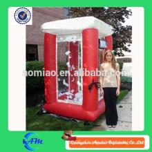 Boa qualidade de máquina de dinheiro inflável vermelha à venda