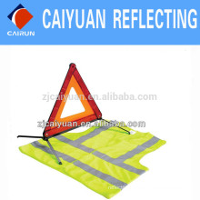 CY Warning Triangle Reflective Vest High Visibility Reflector Custom