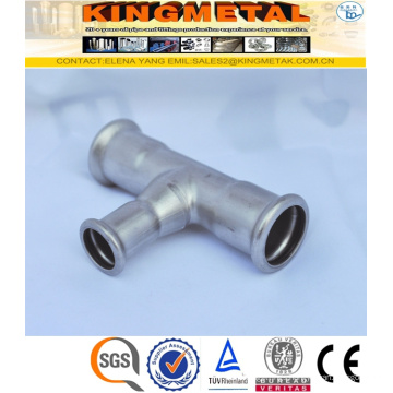 F304/316 Stainless Steel Press Fittings Straight Tee