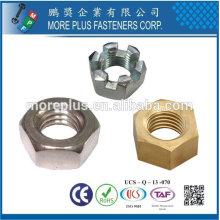 Taiwán A194 de acero inoxidable de alta resistencia pesada mano izquierda Hex Nuts Hex Jam Nuts