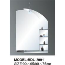 Espejo de baño de vidrio de 5 mm de espesor de plata (BDL-2001)