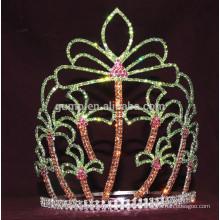 Sommer Kokosnuss Palme Tiara benutzerdefinierte Rhinestone Krone