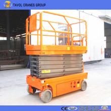 Elevador de tijera autopropulsado hidráulico automático de China