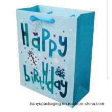 Bolso de papel de color sólido estilo grabado en relieve Bolso de papel más nuevo