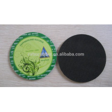 natural rubber coaster, shaped rubber coaster