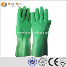 SUNNYHOPE Latex on Palm Revestido luvas abertas luvas de fábrica