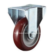 Roulette ronde en polyuréthane rigide à roulettes