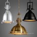 European Vintage Antique Brass Iron Pendant Lamp for restaurant