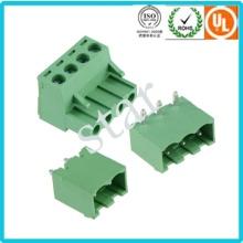Benutzerdefinierte 5,08 mm Pitch steckbaren 3 Pin grüne PCB Terminal Block