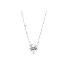 S925 Sterling Silver Love Hollow Daisy Temperament Female Personality Clavicle Chain DIY Accessories Basic Chain Necklace