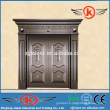 JK-C9027 porte de luxe en bronze villa porte antique en cuivre à vendre