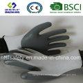 13G poliéster Shell con guantes de trabajo revestidos de nitrilo (SL-N101)