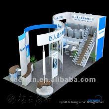 Stand de l'Expo !! Cabine de double pont résistante, conception de stand d'exposition et service de construction