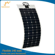 El panel solar flexible 140W de la fábrica de China directamente
