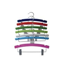Cabide de Clips de Metal de madeira de cor para as crianças