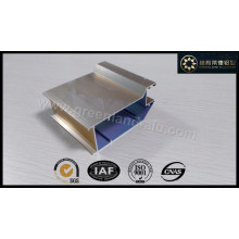 Aluminiumprofil für Tür Electrophoretic Shampange Farbe Shinny