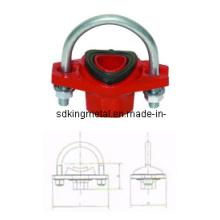 FM/UL Listed Ductile Iron 300psi U-Bolt Mechanical Tee