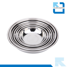 Kitchen Accessories Stainless Steel Mixing Bowl / Round Plate