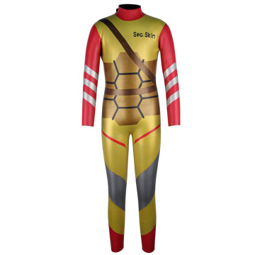 Trajes de neopreno Seaskin Boys Back Zip Golden Diving